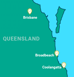 Gold Coast & Brisbane tour map